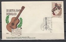 Uruguay, Scott cat. 820. Musician & Poet issue on a First day cover. *