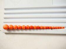 Natural Hawaiian Precious Salmon Coral Beads Half drilled 2.5mm to 13.5mm