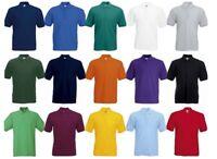 Fruit of the Loom Men's Plain Short Sleeves Poly/Cotton Piqué Polo Shirt Sports