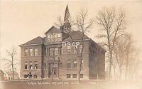 C83/ Atwater Minnesota Mn Real Photo RPPC Postcard 1919 High School Building