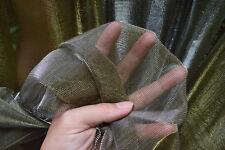 M20 Silver Gold Metallic Iridescent 2 Tones Stretch Mesh Net Fabric Material