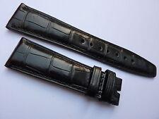 Genuine IWC Black Alligator Crocodile Watch Strap Band 22mm OEM <> Brand New <>
