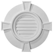 """24""""W x 24""""H x 1 3/4""""P, Round Gable Vent with Keystones, Functional"""