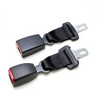 "2-Pack Seat Belt Extender - E4 Safety Certified, Black A+B, Add 7"" - Click & Go!"