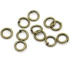 1000 Anneaux de Jonction Couleur Bronze 5mm