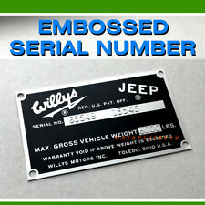 Willys Jeep Fc 150 170 Data Serial Number Plate Station Wagon Pick Up Tag