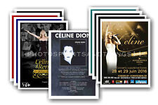 CELINE DION - 10 promotional posters  collectable postcard set # 1