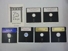 6 Commodore 64/128 Floppy Disc Lot: The Last Ninja, Death Sword, Arcade I - IBM