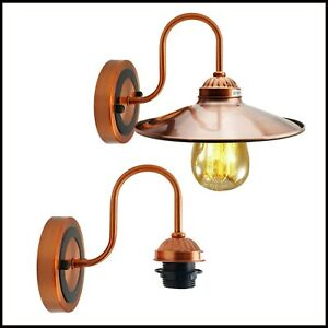 Edison Vintage E27 Industrial Wall Light Sconce Retro Loft Lamp Holder Fittings
