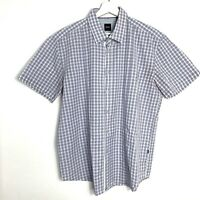 Men's Hugo Boss multi check slim fit short sleeved shirt XXL