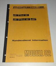 Manual de Taller / Servicio Al Cliente Información Porsche 928/928S Año Modelo