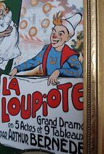 Cirque plaque faïence polychrome dessin Aristide Bruant la loupiote par Arthur