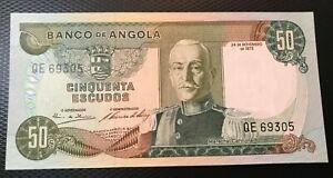 1972 ANGOLA 50 ESCUDOS  NICE UNCIRCULATED NOTE