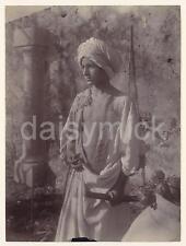 Sicilian Boy in Moorish Dress & Katana Samurai Sword 1895 5x4 Inch Reprint Photo