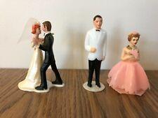 Vintage Wedding Cake Toppers - Plastic