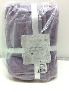 Trident Group Luxury Hotel Bath Towels Set of 6 100% Cotton Purple