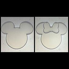"Flexible Resin Mold Small Mouse Ears Silhouette (Set of 2) 2.25"" x 1.75"""
