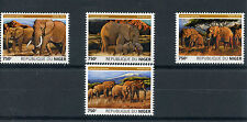 Niger 2015 MNH African Bush Elephants 4v Set Wild Animals Fauna Elephant Stamps