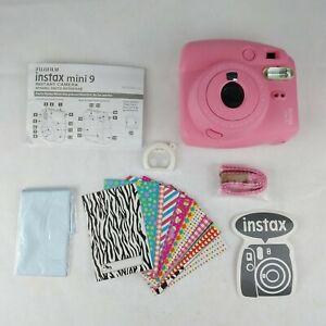 Fujifilm Instax Mini 9 Instant Film Camera - Flamingo Pink + Accessories