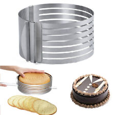 1pcs Stainless Steel Round Mousse Cake Ring Mold Layer Slicer Cutters mode uio
