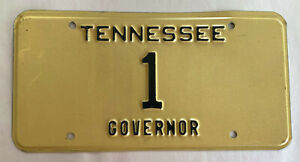Governor License Plate - TENNESSEE 1989 circa- #1 Low Number One, very rare