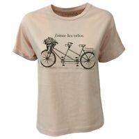 T-shirt donna cipria mezza manica EMPATHIE mod 0405 100% cotone MADE IN ITALY
