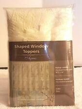 IVORY LACE DESIGNED SHAPED WINDOW VALANCE TOPPER AGNES STYLE 60 W X 36 NEW