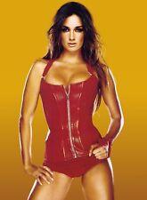 PAZ VEGA PHOTO sexy hot red leather corset photograph