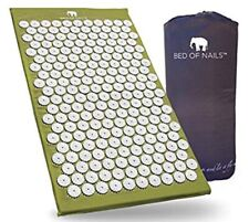 Bed Of Nails Acupressure Acupuncture Yoga Mat Natural Pain Stress Relief Green