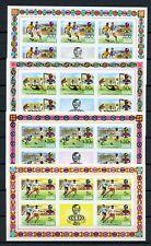 GHANA Nr.581-584B ** KLEINBOGEN FUSSBALL-WM 1974 ME 90,-++ !!! (129434)