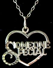 9CT YELLOW GOLD SOMEONE SPECIAL PENDANT NECKLACE 375 FRIENDSHIP 1.09g (11843)