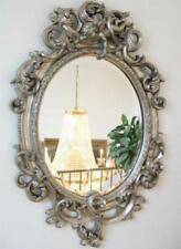Espejo de pared Ovalado cm con ángel decoración ESPEJO 90cm Plata Estilo Antiguo