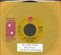 Paul, Billy - Me And Mrs. Jones Vinyl 45 rpm record Free Shipping