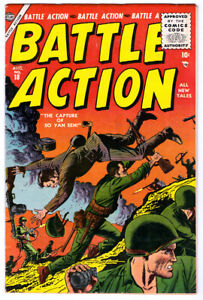 BATTLE ACTION #18 in FN/VF condition a 1955 Atlas Golden Age WAR comic