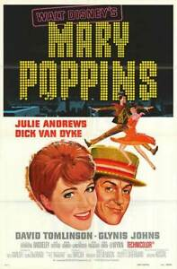 MARY POPPINS original  27x41 DISNEY one sheet movie poster JULIE ANDREWS