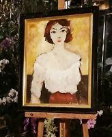 tableau huile /toile  - portrait - signée Latour