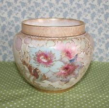 Victorian Royal Doulton Burslem Small Jardiniere / Pot Planter. Hand Painted.