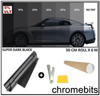 Coche Oficina Tintado Ventana Film Tinte Super Dark negro Limusina 5% 6m X