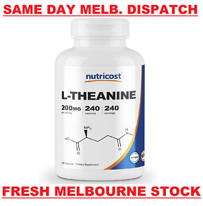 L-Theanine DOUBLE STRENGTH 200mg 240 Caps PREMIUM QUALITY - MELB STOCK FAST SHIP