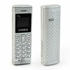 Zanco Fly The Worlds Smallest Mobile Phone with Voice Changer - Silver NEW