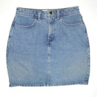 American Apparel Womens Blue Denim High Waisted Mini Skirt Size M Made in USA