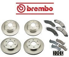 For Chevy Tahoe 03-06 V8 5.3L Brembo Full Front & Rear Brake Rotors 4WD Pads Kit