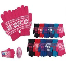 1~5 Dozens Christmas Winter Gloves Thermal Wool Knit Ski Xmas Wholesale Lots