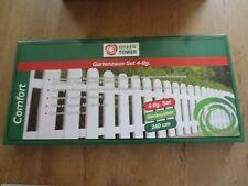 Green Tower Gartenzaun-Set Kunststoff 4-tlg. Stecksystem 240 cm