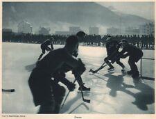 ICE HOCKEY. Ice hockey, Davos - Eishockey Davos - Hockey sur glace (2) 1935