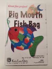 Katie Lane Quilts Big Mouth Fish Bag Applique Wall Hanging Pattern Parker No 239