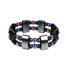 Double Layers Magnetic Healing Bracelet Hematite Bead Bangle Pain Relief SD3