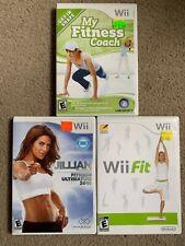 Nintendo Wii. Jillian Michaels Fitness Ultimatum 2010, Wii Fit, My Fitness Coach