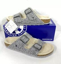 Birkenstock Arizona Rivet Women's Size 10 (EU41)N Fit Grey Wool Sandals KB-2322