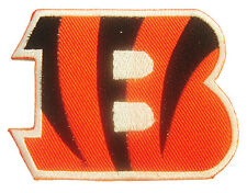 NFL Cincinnati Bengals Logo embroidered iron on patch. 3 x 2.25 inch (i7)